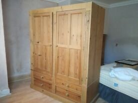 1 wardrobe + 1 chest of drawers