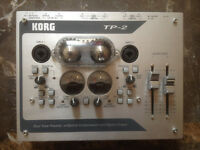 KORG TP-2 korg tp2 Dual Tube Preamp Optical Compressor in an amazing condition like new RRP £399