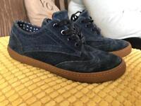 Next size 1 navy brogue shoes