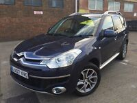 Citroen C-Crosser 2.2HDi Exclusive Diesel Manual 07 Blue 7 Seater Sat Nav Leather Reverse Cam Xenons