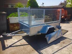 6x4 trailer single axle trailer with mesh kit