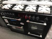 New Graded Leisure Cookmaster CK110F232 Dual Fuel Double Oven Cooker - Black RRP £1,100.00