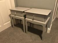 Stag minstrel Annie Sloan Paris grey shabby chic bedside table cabinets