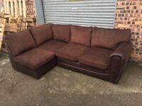 Brown corner sofa as pics