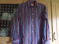 Joe Brown's Long Sleeve Striped Shirt.Size M