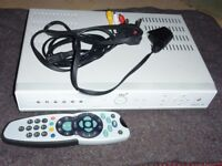 Sky Box with working remote control and cables
