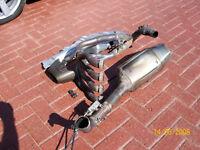 Genuine rare Honda Cbr1000rr Fireblade motorbike Stock full Exhaust pipe System