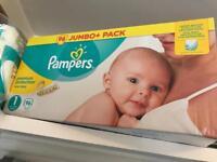 Jumbo box pampers size 1