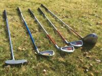 Assorted Junior Golf Clubs