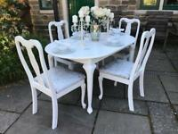 Dining Table & 4 Chairs ~ Quuen Anne