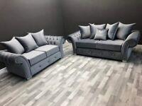amazing 2c2 Corner Plush Velvet High Quality Sofa for sale in Black Grey Blue
