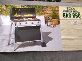 4 Burner Barrel Gas Barbeque NEW (Tescos)