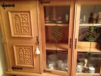 Reproduction Belgian style solid wooden dining room unit