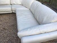 Cream leather corner group ...300 cms x 290 cms