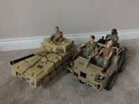 Army tank/truck & soldiers