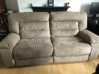Harvey's kinman 3 seater suede recliner sofa