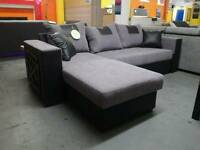 New Black Grey Sofa Bed With Storage