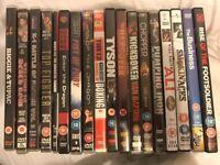 Various dvds Bruce lee hangover ali