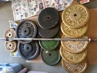 300 POUNDS Of ALL METAL WEIGHTS + BAR