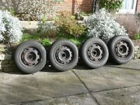 4 x good quality Dunlop winter tyres for sale