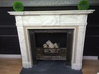 Period Style Georgian fireplace and cast insert surround