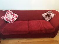 Large red DFS sofa