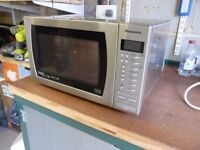 Panasonic microwave plus normal oven and grill - stainless steel - full working order.