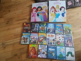 Princess canvas and kids dvds