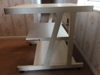 Computer table / desk with shelves