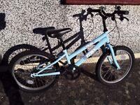 Girls Bike Trax TR 20ins Blue/ Pink VG condition