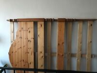 I'm selling solid wood king size bed frame