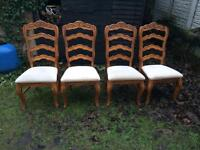 4x vintage dining chairs
