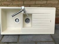 Lamona (Howdens) 1.5 Bowl Inset Composite Kitchen Sink and chrome mixer tap