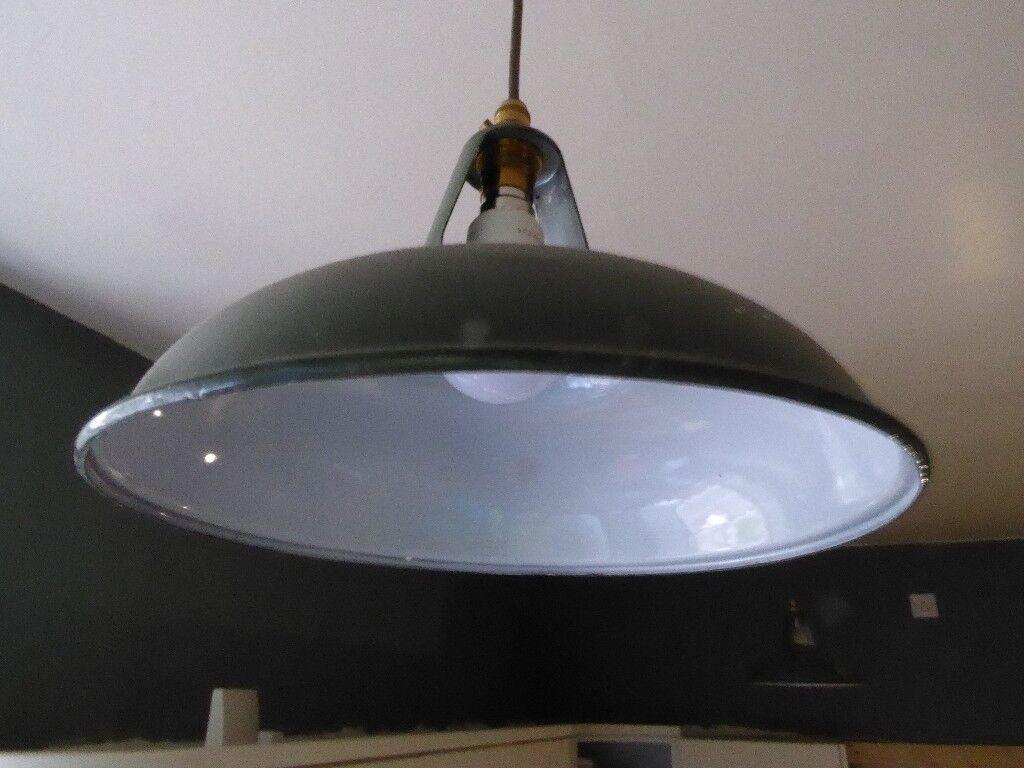 Vintage metal lampshades