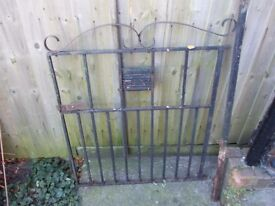 Single garden gate with pole wrought iron