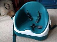 Mamas and Papas Baby Bud - Teal Booster Seat - With Tray