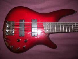 Ibanez SR375 BBS , 5-String Active Bass Guitar.