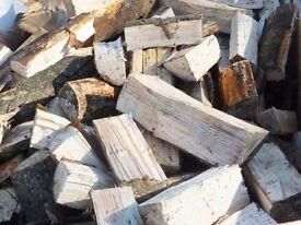Seasoned Firewood. Mixture of Hardwood and Softwood Logs