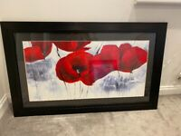 Large framed picture of poppies