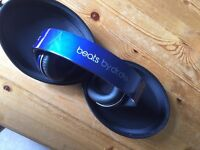 Beats by Dr Dre Studio Headphones (Navy Blue, Battery powered, Aux Cable required)