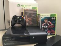 Xbox 360 slim 250GB + games