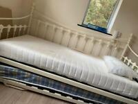 Cream Trundle bed