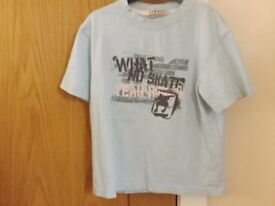 Boys Blue T-Shirt Age 5-6