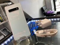 Prism White Samsung S10 128GB Factory Unlocked To All Networks + Warranty