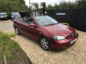 VAUXHALL ASTRA CONVERTIBLE 2004 1.6 PETROL VERY LOW MILEAGE
