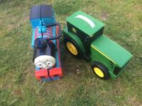 Thomas and tractor toy car / train carrier storage
