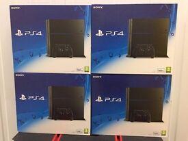 4 x Sony PlayStation 4 Console 500 GB Edition Jet Black