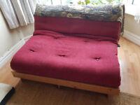 Maroon double futon