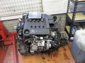 peugeot citroen 1.4 16v 8hy hdi engine complete turbo etc perfect runing order