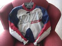 Leather Armoured Motorbike Jacket.